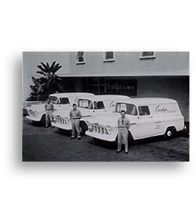 (1956)  Truck Photo - Panel Truck Flower Display