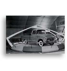 (1956)  Truck Photo - Cameo Motorama Display