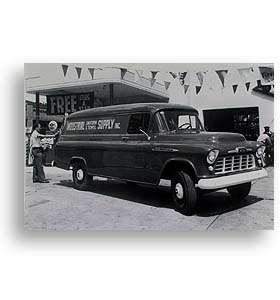 (1956) Truck Photo - 1 Ton Panel on Long Wheel Base