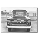 (1957)  Truck Photo - Pickup - Front View