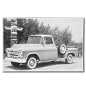 (1957)  Truck Photo - Longbed Pickup with Spare