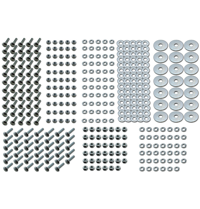 (1967-72)  Bed Bolt Kit - Zinc  -Short Fleet