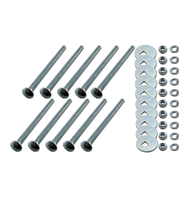 (1936-46)  Bed to Frame Bolt Kit - Zinc - Extra Long bed