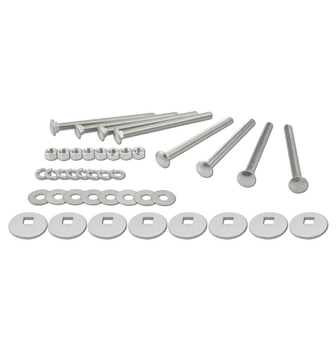 (1960-72)  Bed to Frame Bolt Kit - Stainless - Shortbed & Longbed Wood Floor
