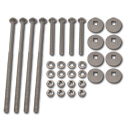 (1955-58)  Bed to Frame Bolt Kit - Stainless - Cameo