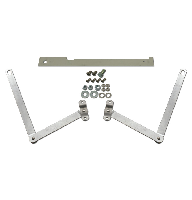 (1954-87)  Tailgate Arms - Stainless Stepside