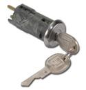 (1973-91)  Tailgate Handle Lock Cylinder & Key - Power