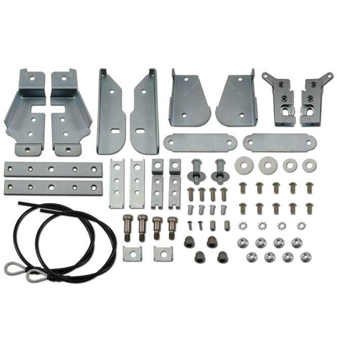 (1934-87)  Stepside Tailgate Latch Kit - Complete Stainless Kit