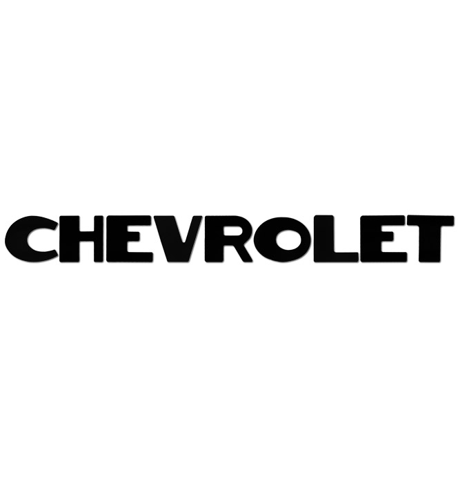 (1947-53)  Tailgate Letters - Black - Chevy