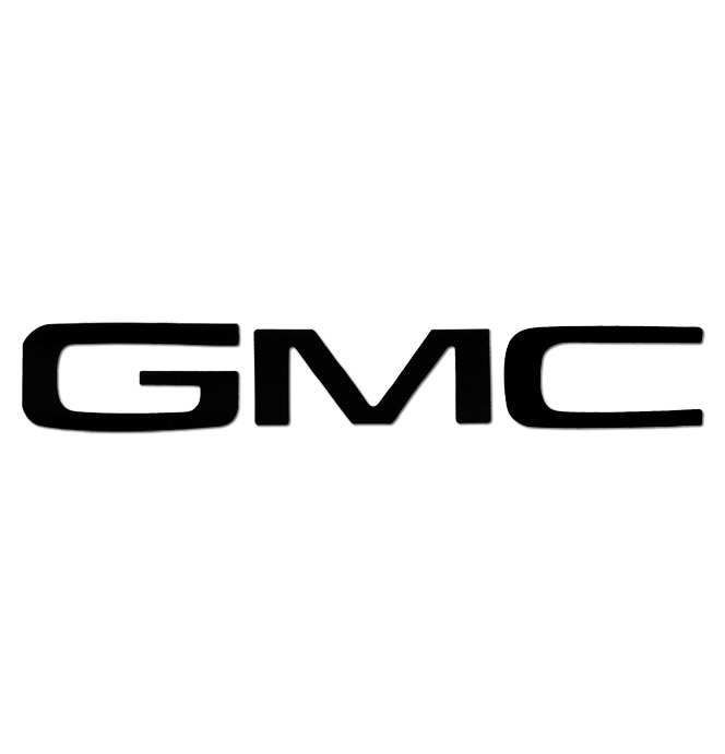 tailgate letters - black - gmc