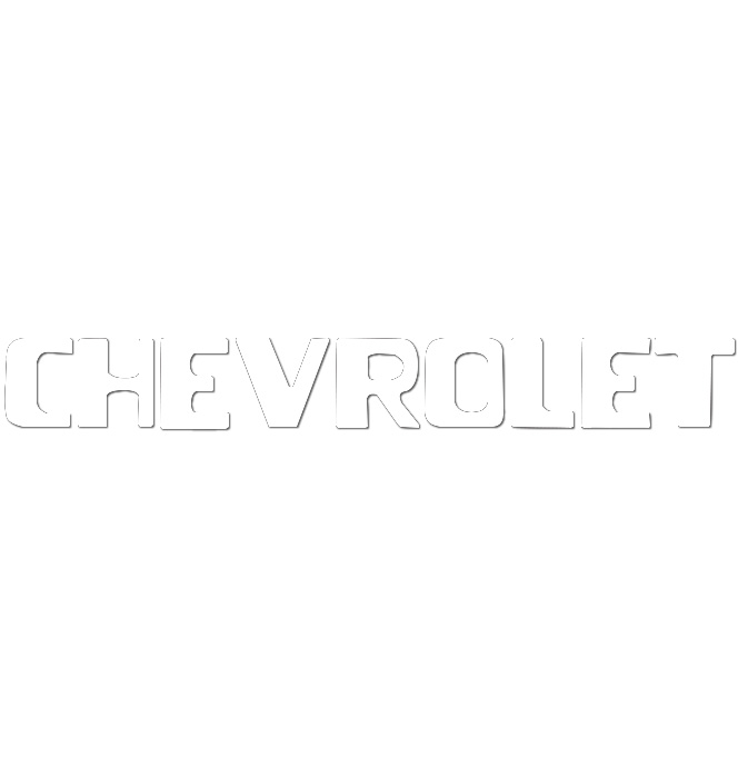 (1954-87)  Tailgate Letters - White - Chevy - Stepside