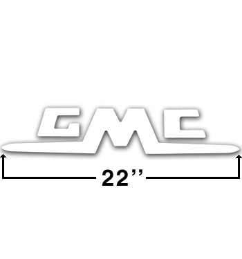 (1955-62)  Tailgate Letters - White - GMC - Stepside