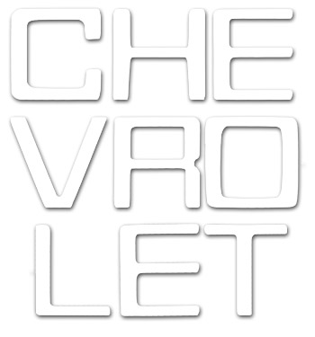 (1981-91)  Tailgate Letters - White - Chevy - Fleetside