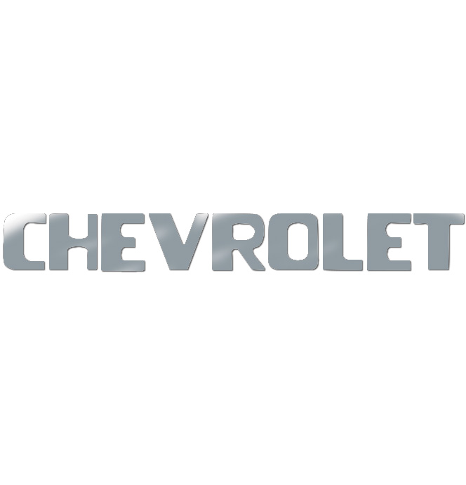 (1954-87)  Tailgate Letters - Chrome - Chevy - Stepside