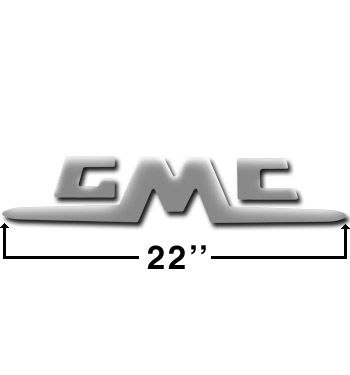 (1955-62)  Tailgate Letters - Chrome - GMC - Stepside