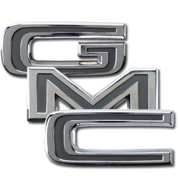 (1969-72)  Tailgate Trim Letters - GMC