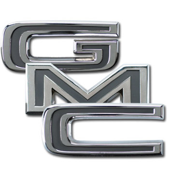 Tailgate trim letters gmc classic chevy truck parts for Chevy chrome letters