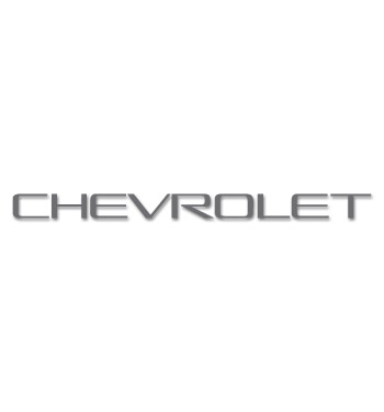 (1993-98)  Tailgate Decal - Chevrolet - Dark Gray