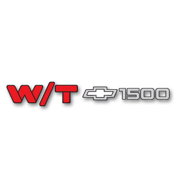 (1990-98)  Tailgate / Door Decal - W/T 1500
