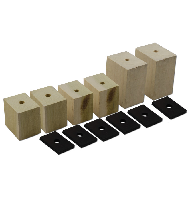 (1934-40)  Bed Mounting Block and Pad Set - Shortbed