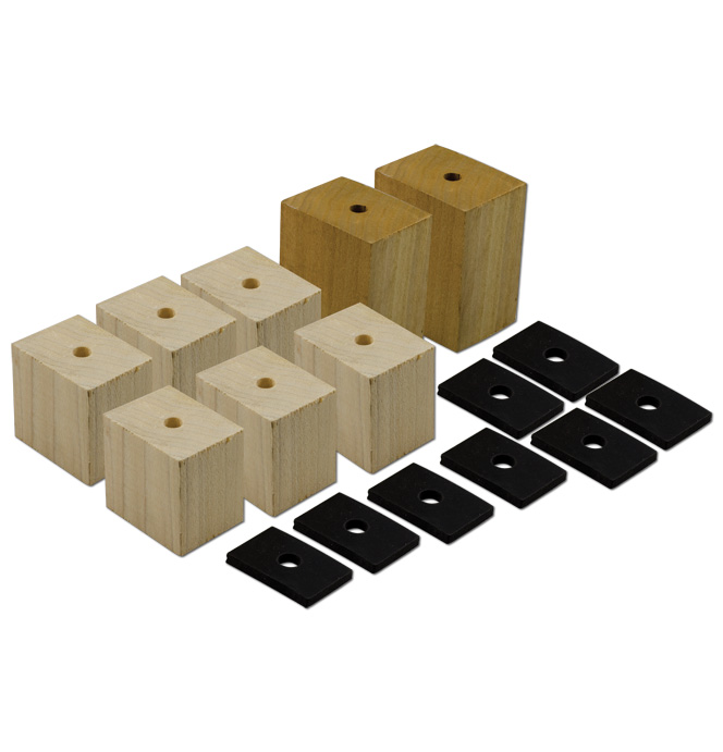 (1934-40)  Bed Mounting Block and Pad Set - Longbed