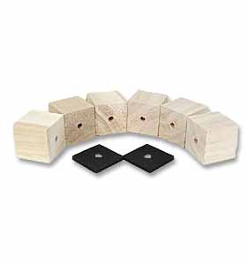 (1947-53)  Bed Mounting Blocks & Pads - Longbed