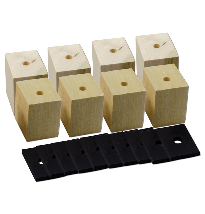 (1947-53)  Bed Mounting Blocks & Pads - Extra Longbed