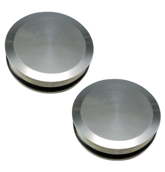(1941-87)  Bed Hole Caps - Polished Smooth