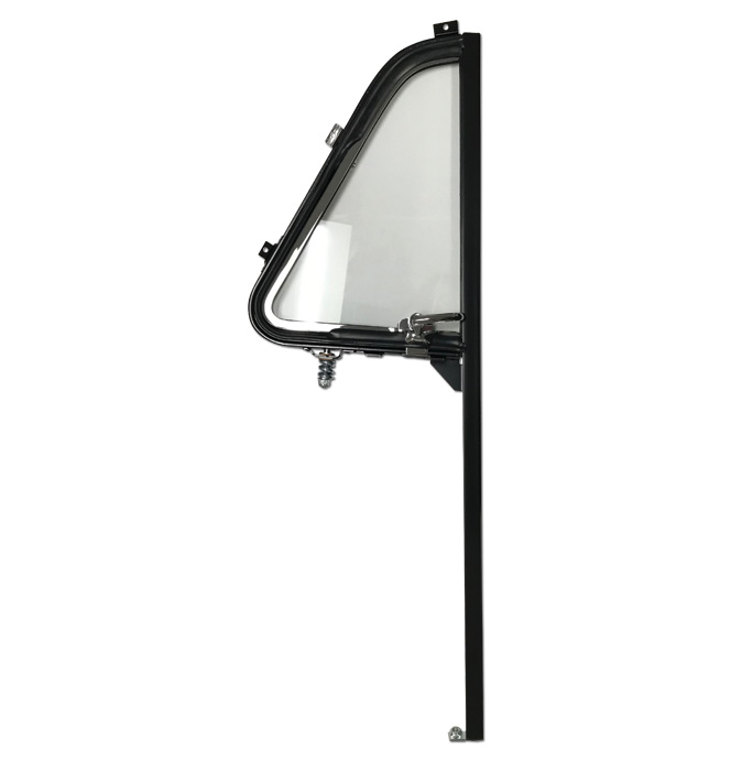 (1951-54)  Vent Window Assembly - Black/Chrome - Right