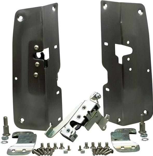 (1955-59) Easy Latch Kit - Steel - Stock Handles w/Short Panel