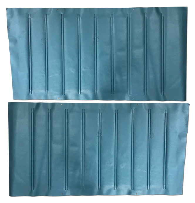 (1967-68)  Door Panels - Bright Blue, Skin Only