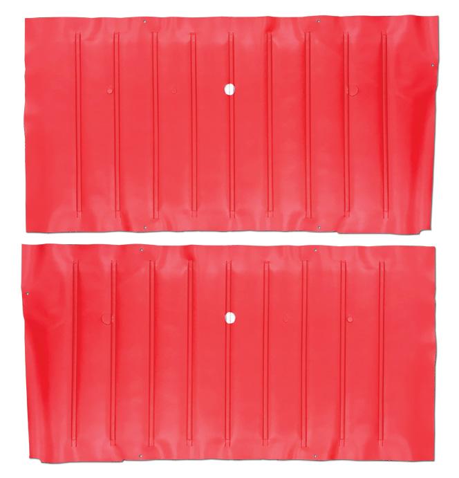 (1967-68)  Door Panels - Red, Skin Only