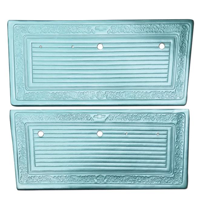 (1969)  * Door Panels - Aqua, Pre-Assembled