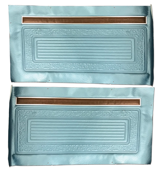 (1970-71)  Door Panels - Bright Blue, Skin Only