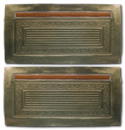 (1970-71)  Door Panels - Metallic Green, Skin Only