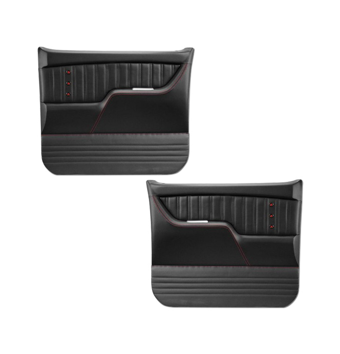 (1973-76) * Pro Series Door Panels - Sport-X - Black - pr