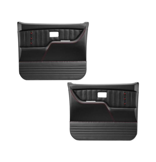 (1977-87) * Pro Series Door Panels - Sport-X - Black - pr