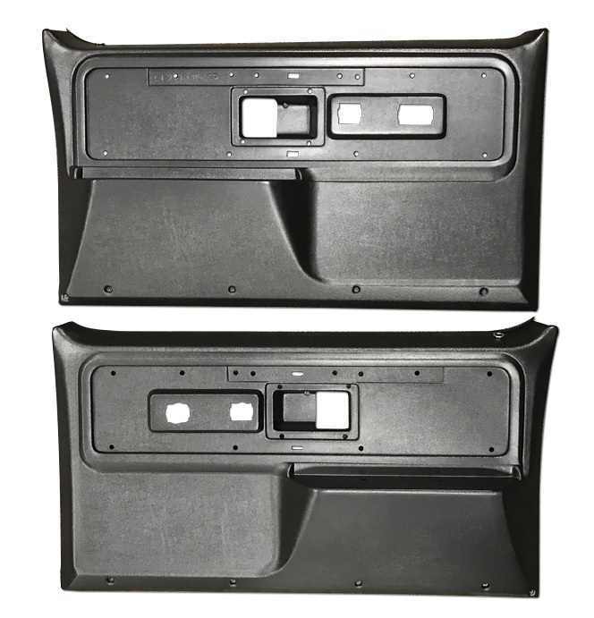 (1977-80)  * Door Panels - REPRO - Black - Silverado,Cheyenne,Sierra