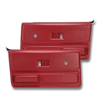 (1973-76)  * Door Panels - Replacement - Front - Red
