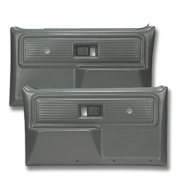 (1977-80)  * Door Panels - Repo - Front w/o Power Windows - Gray