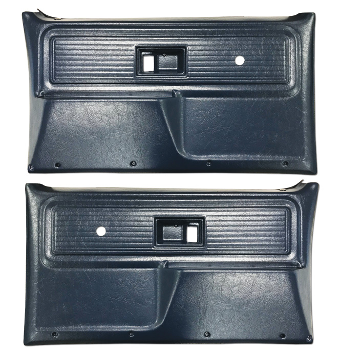 (1977-80)  * Door Panels - Repo - Front w/o Power Windows - Blue
