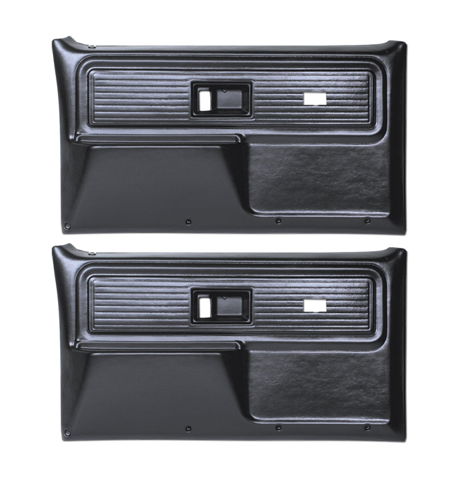 (1977-80)  * Door Panels - Repo - Front with Power Windows - Black