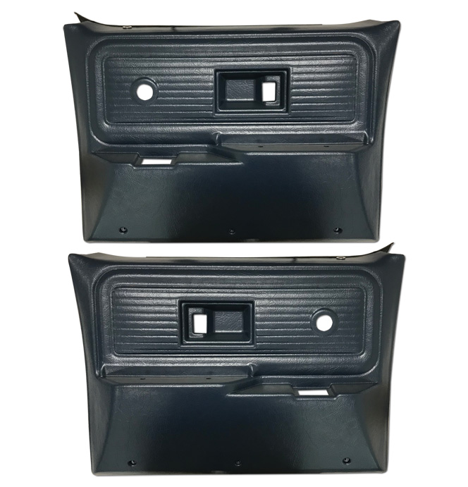 (1977-80)  * Door Panels - Repo - Rear w/o Power Windows - Blue