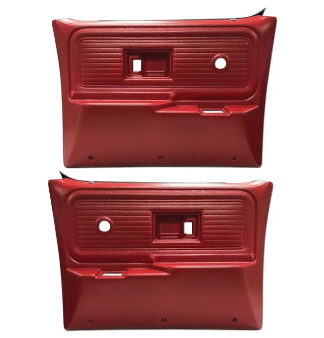 (1977-80)  * Door Panels - Repo - Rear w/o Power Windows - Red
