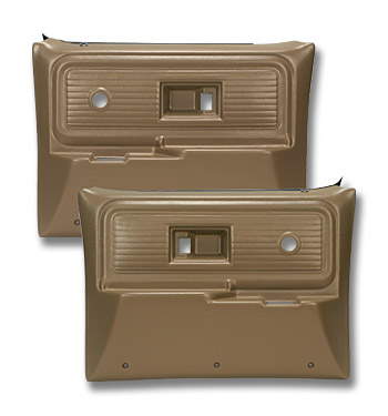(1977-80)  * Door Panels - Repo - Rear w/o Power Windows - Saddle