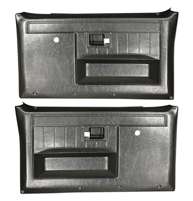 (1981-87)  * Door Panels - Repo - Front w/o Power Windows - Black