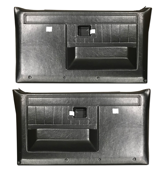 (1981-87)  * Door Panels - Rpmnt - Front with Power Windows - Black