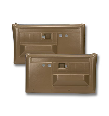 (1981-87)  * Door Panels - Rpmnt - Front with Power Locks - Saddle