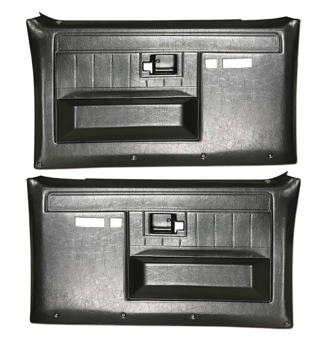 (1981-87)  * Door Panels - Rep - Front w/Power Windows/Locks - Black