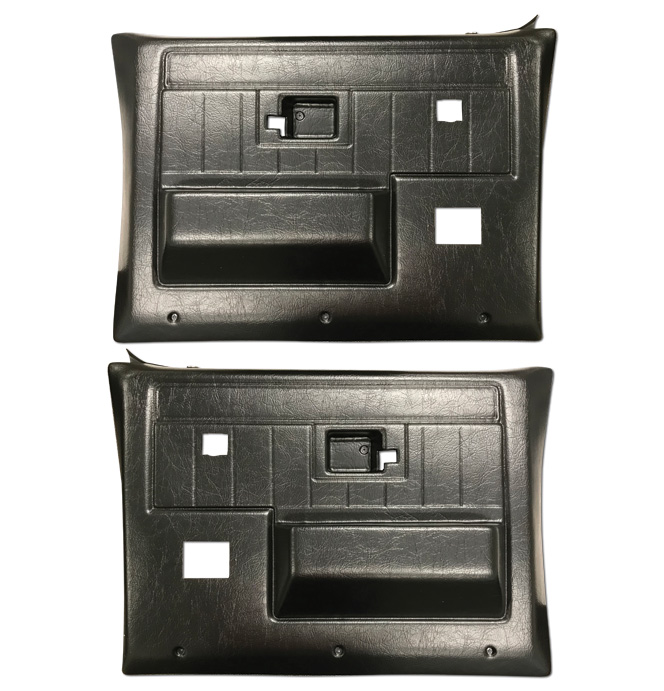 (1981-87)  * Door Panels - Rpmnt - Rear with Power Windows - Black
